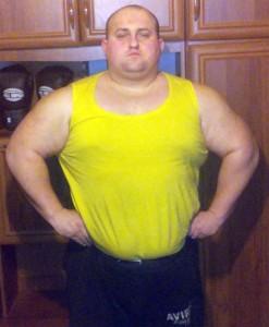 Sylwester Ślebioda zam- Kamesznica wzrost – 177cm waga – 140kg.