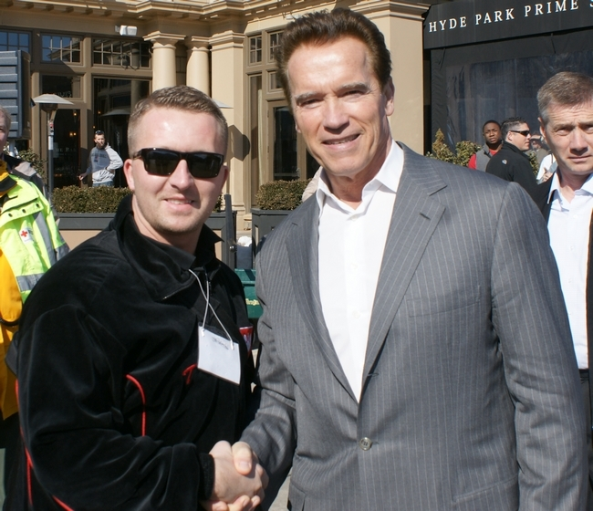 Arnold Schwarzenegger i Czuba Przemysław Prezes Stowarzyszenia Sportowego Strongman.pl